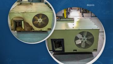 Overhaul em sistemas de climatização para equipamentos móveis.